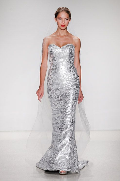 Silver Wedding Dress Ideas : Best 25 metallic wedding dresses ideas on pinterest