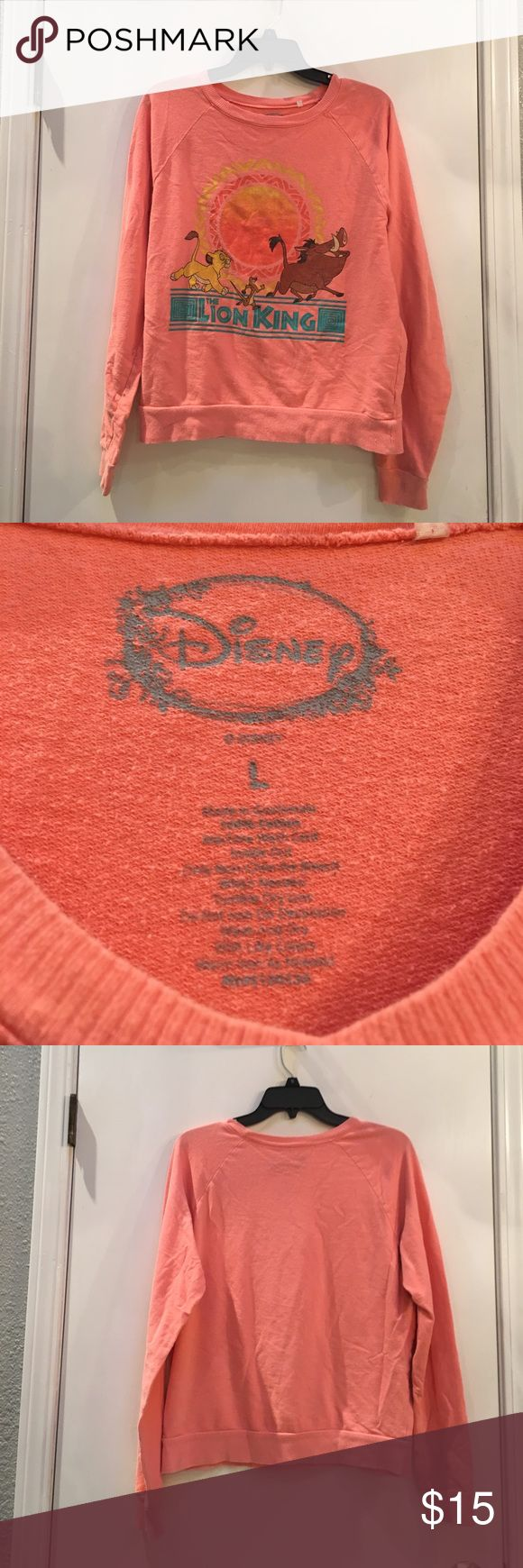 Lion king shirt Orange lion king shirt. Good condition. Disney Tops Tees - Long Sleeve