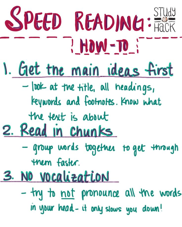 How to Speed Read | Study-Hack http://study-hack.com/2015/02/07/how-to-speed-read/?utm_content=buffer4053e&utm_medium=social&utm_source=pinterest.com&utm_campaign=buffer  #readingtips #collegeprobz #studytips @study_hack