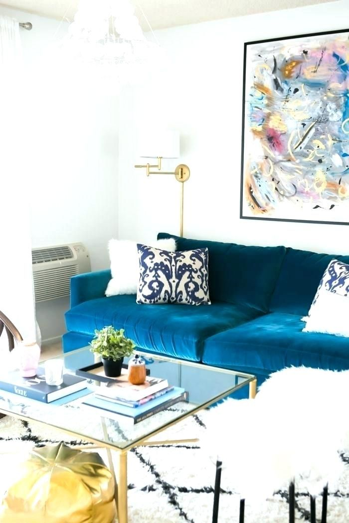 Peacock Blue Sofa Blue Living Room Living Room Inspiration Pinterest Living Room