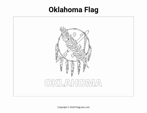 Oklahoma State Flag Coloring Page In 2020 Flag Coloring Pages