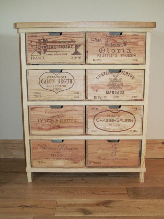 Chest of drawers 8 wine-box-drawers by BoisRustique on Etsy