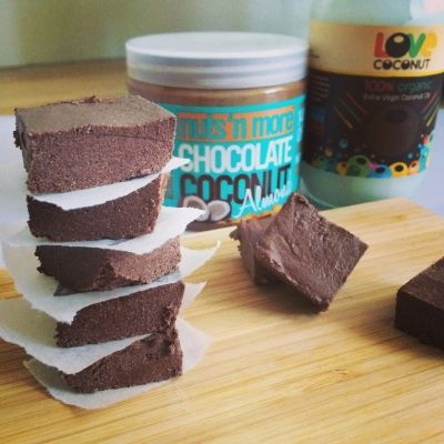 Ripped Recipes - Chocolate Coconut Almond Protein Fudge - Protein fudge with Nuts N More chocolate coconut almond butter - amazing stuff!