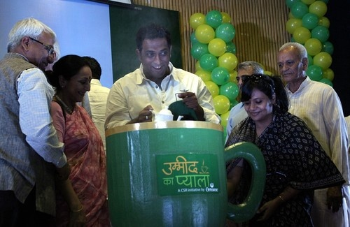 Filmmaker Anurag Basu joining a social campaign 'Ummeed Ka Pyala' by Goodricke Group