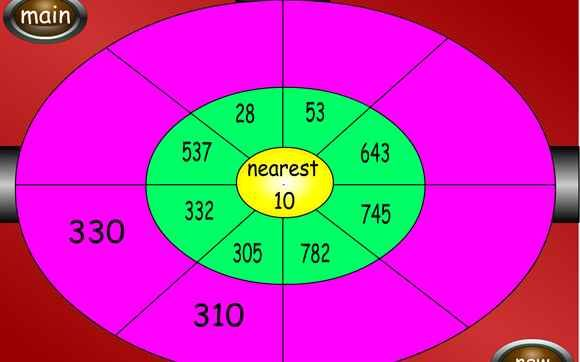 Dartboard - Rounding - 6-12 year olds - Topmarks