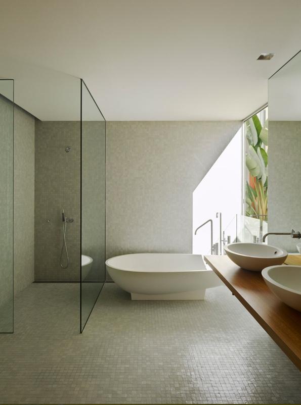 beautiful calm bathroom home interior decoration dcor organize minimalist spa - Open Bathroom Decorating