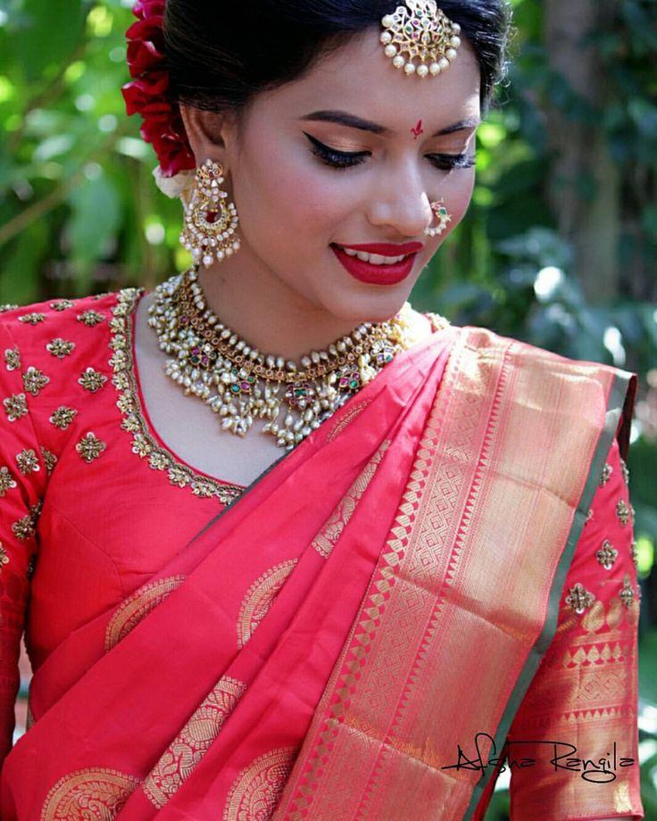 "126 Likes, 5 Comments - afsha rangila - makeupartist! (@afsharangila_makeupartist) on Instagram: ""My Dapper Bride Keertana!! #teluguwedding #telugubride #indianweddings #morningbride #poolajada…"""