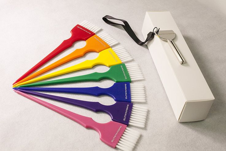 Outstanding 7-Color Rainbow Hair Dye Brush and Bowl Set for Hair Coloring, with Key Tube Squeezer >>> To view further for this article, visit the image link. #hairtreatment