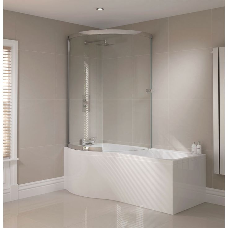 Browse The 1700mm P Shape Shower Bath With Sliding Screen