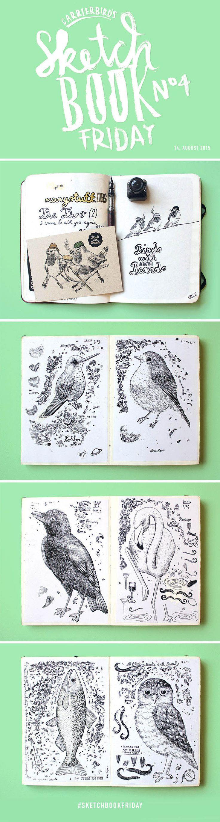 Carrier Bird's Sketchbookfriday No.04