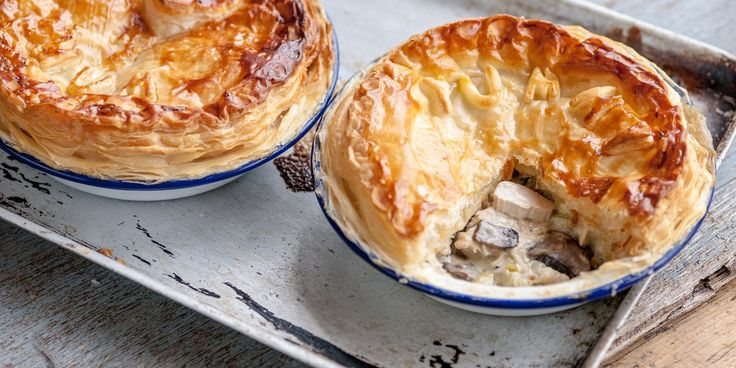 Shaun Rankin uses classic flavours to delicious effect in this chicken, leek and mushroom pie recipe