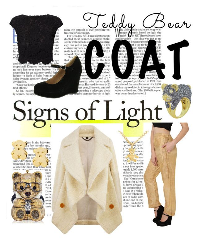 """""""Go For It!"""" by christined1960 ❤ liked on Polyvore featuring Burberry, WtR, Bonnibel, Judith Leiber, Dainty Edge, Pomellato, Noir and teddybearcoats"""