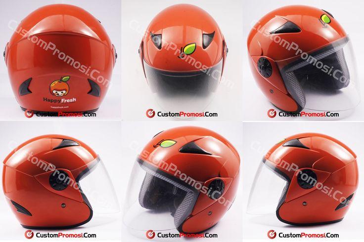 "Helm Promosi Pesanan ""HAPPY FRESH"" Info Harga Hubungi +6281287068190"