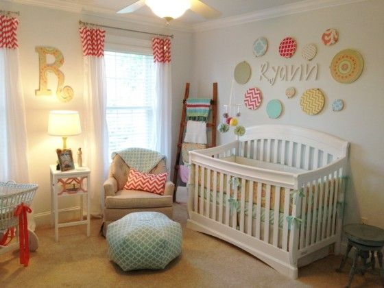 The fun mix of colors and patterns paired with both heirloom and new finds make this nursery our readers' favorite! #nursery