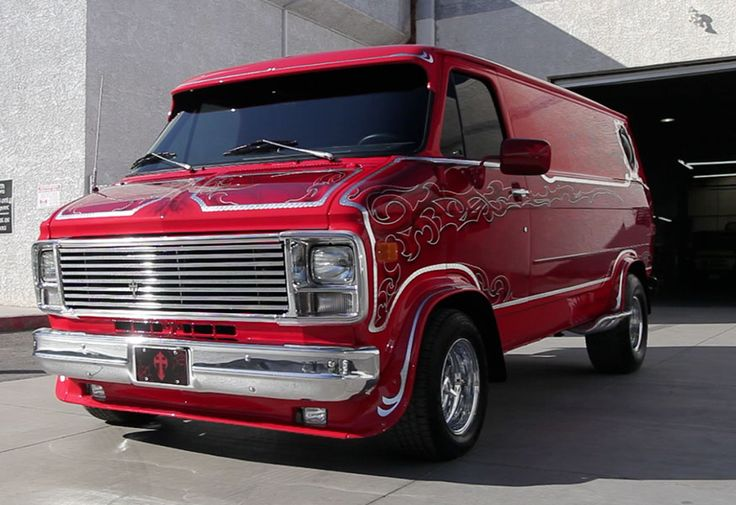 """Danny Koker's Chevy Van from the TV show """"Counting Cars"""" on History Channel."""