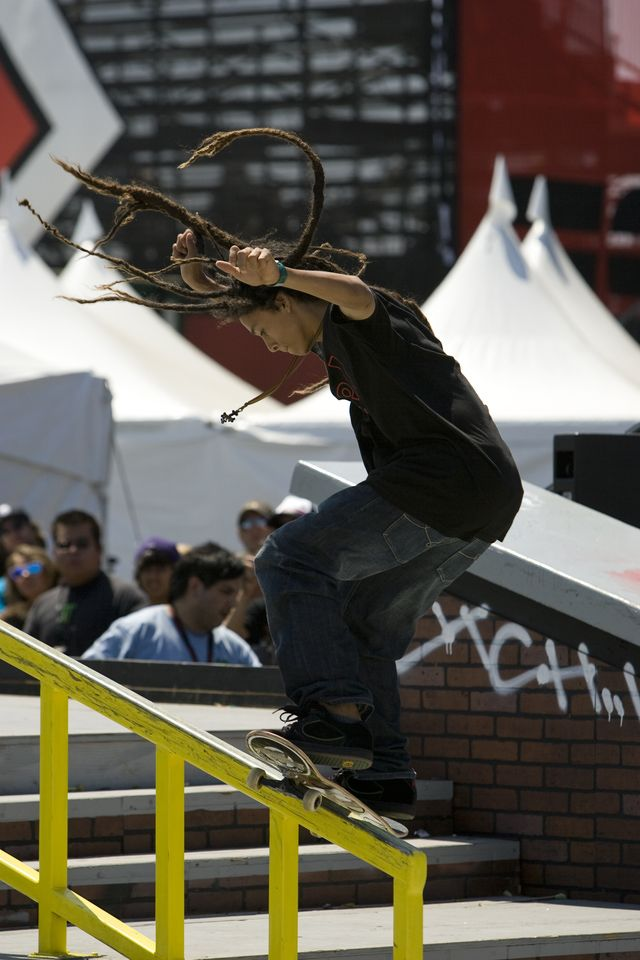 Nyjah Huston Gallery -  Pro skater Skateboarder Picture Gallery: Nyjah Huston Winning Silver