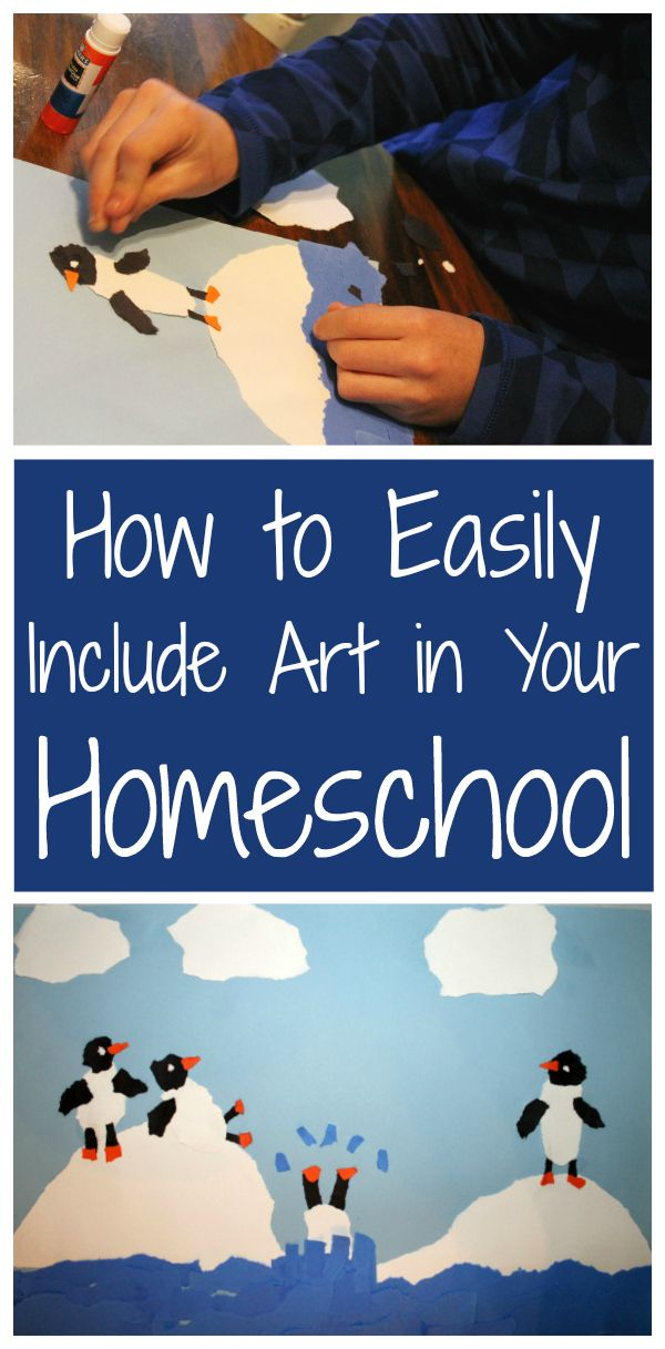 How to Easily Include Art in Your Homeschool from Walking by the Way