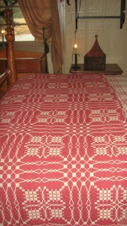 1000 Images About Coverlets Woven ️ On Pinterest Red