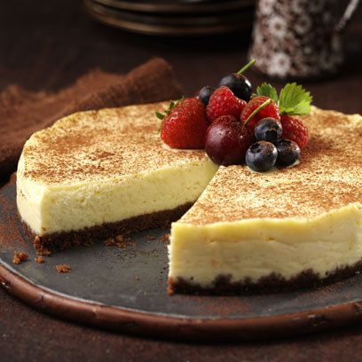 White Chocolate Cheesecake: Recipe http://www.redonline.co.uk/food/recipes/mary-berrys-white-chocolate-cheesecake  Haven't tried it yet but it's a Mary Berry one so.....