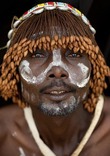 zurukenya Tharaka warrior with a wig - Kenya,