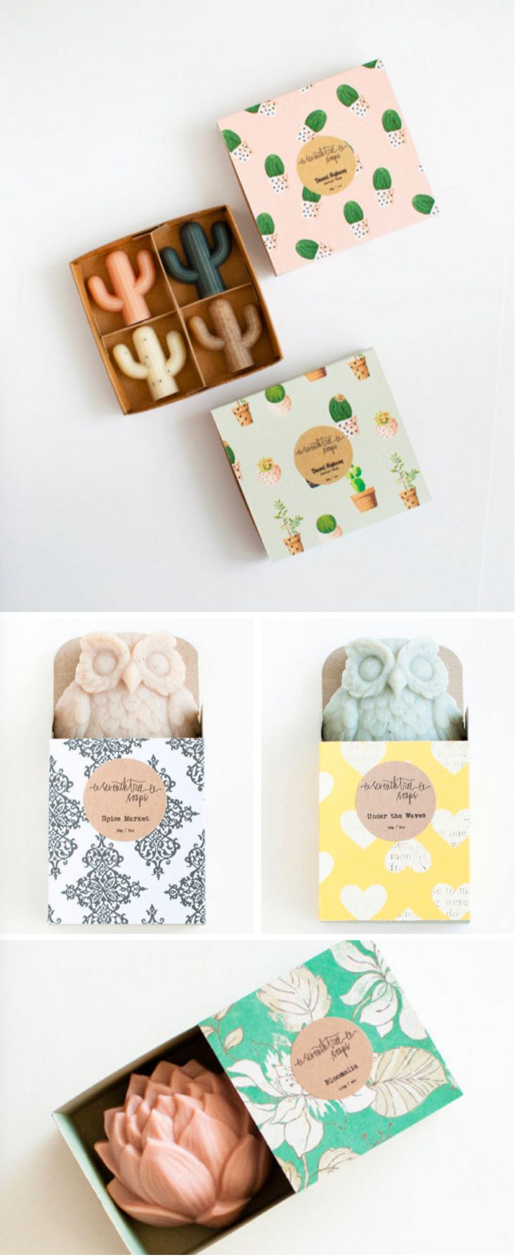 Handmade Cactus Soaps by Seventh Tree Soaps