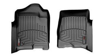 2008 - 2013 Chevy Silverado 1500 Crew Cab Double Cab Front Set - WeatherTech Custom Floor Mats Liners - Black