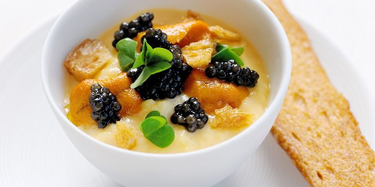 Gary Jones combines sea urchin with scrambled eggs and caviar to make a luxurious and innovative canapé