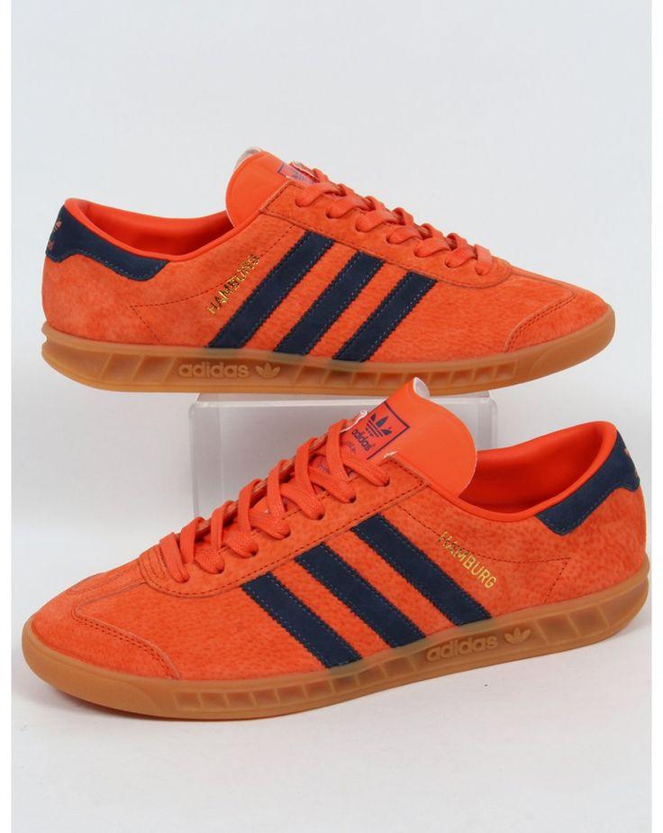 Adidas Hamburg Orange Navy Trainers/Shoes Sale