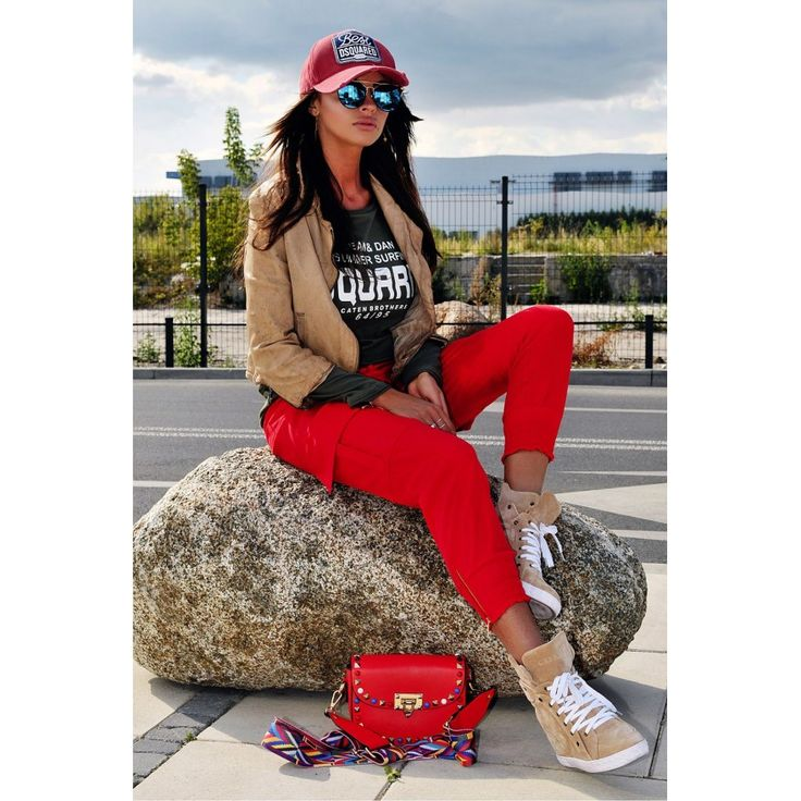 YourNewStyle Naisten punaiset housut   Naisten housut netistä
