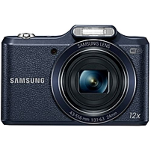 Samsung WB50F 16.2 Megapixel Compact Camera - Black - 3 LCD - 16:9 - 12x Optical Zoom - 2x - Optical (IS) - 4608 x 3456 Image - 1920 x 1080 Video - HD Movie Mode - Wireless LAN