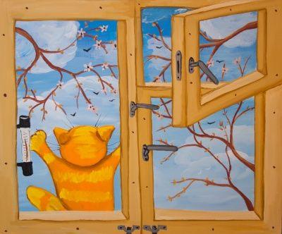 Картина Васи Ложкина  Времена года Весна в магазине Арт-Декоро