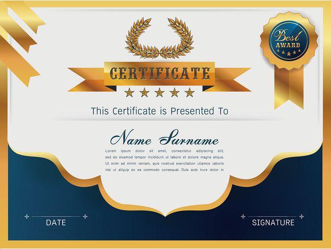Cartoon certificate PNG and Vector latihan Pinterest Certificate