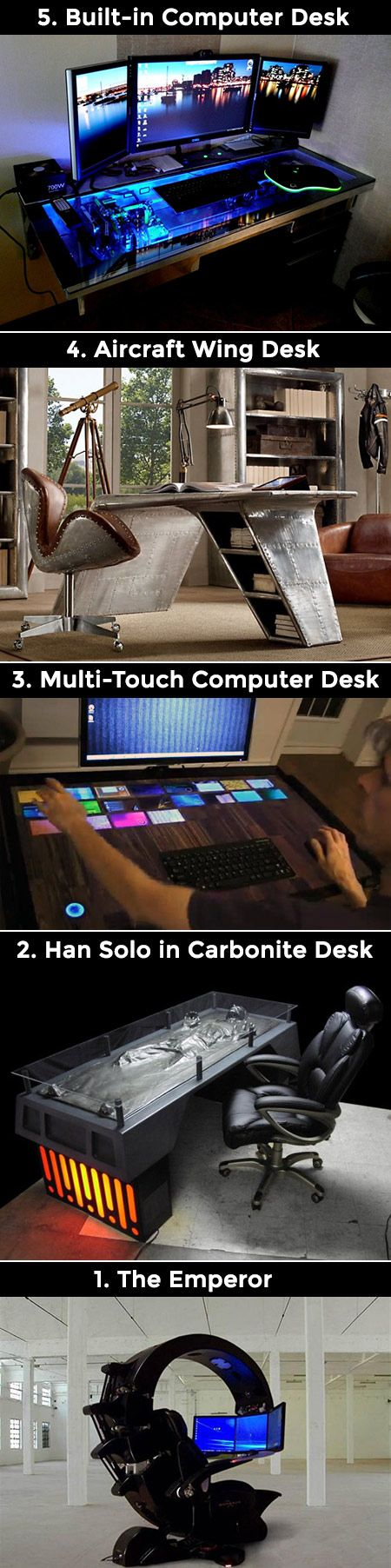 Most computer desks are boring, these five take creativity to the next level.