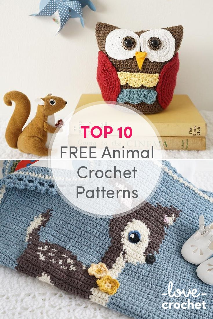 175 best free crochet patterns images on pinterest children toys most crocheters love making fluffy friends for themselves or for the little ones in their lives so we rounded up the top 10 animal crochet patterns bankloansurffo Image collections