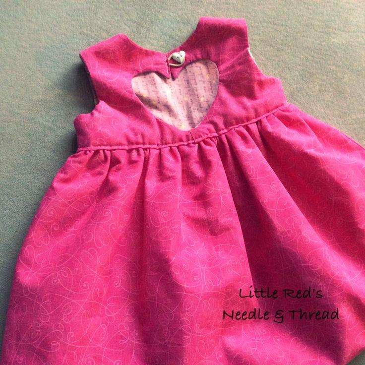 Baby girl sweetheart dress www.facebook.com/littleredsneedleandthread