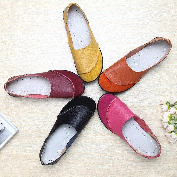 $14.85 Big Size Color Match Soft Comfy Ballet Pattern Casual Flat Shoes