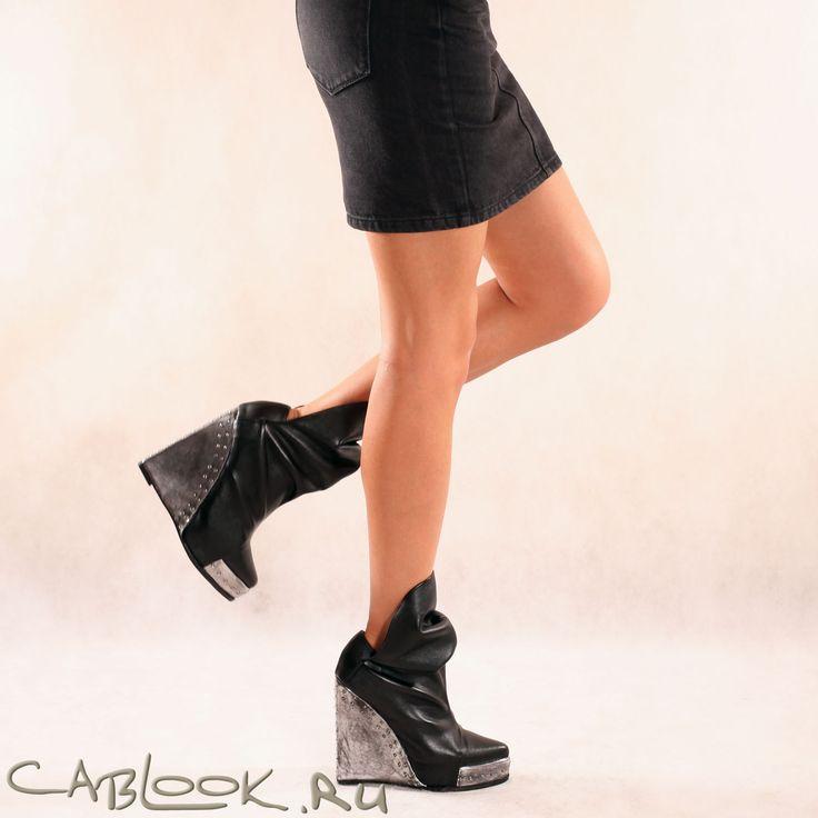 Jeffrey Campbell Vittorio черные ботильоны женские купить в инетрнет-магазине CabLOOK.ru