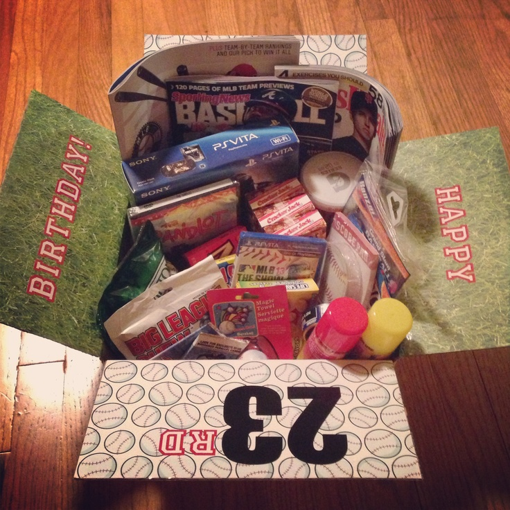 Baseball Themed Birthday Care Package