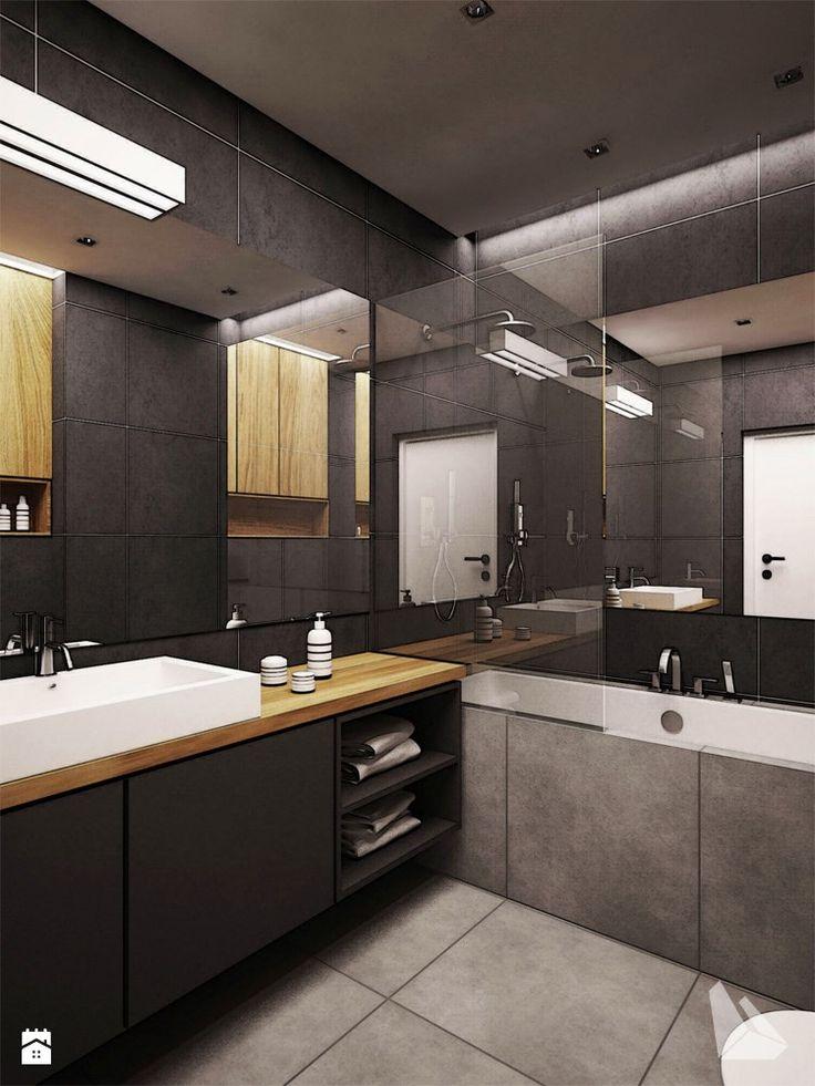 Projekt wnętrza mieszkania w Wiślanych Tarasach. - zdjęcie od Dream Design - Łazienka - Styl Nowoczesny - Dream Design