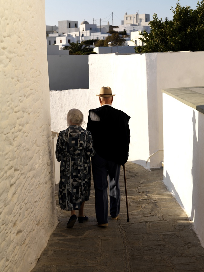 Sifnos Island (South Aegean) old man and old woman