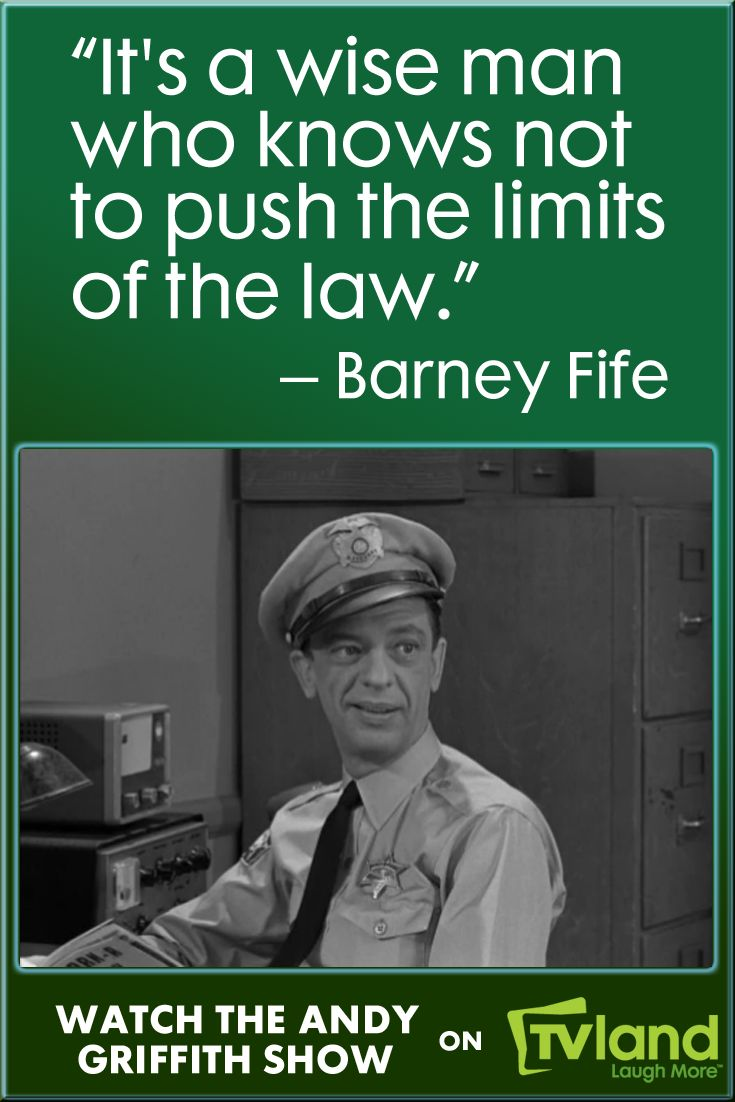 Don't mess with Barney Fife, he's the law on The Andy Griffith Show