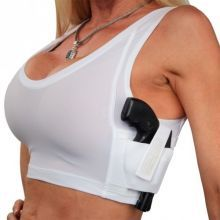 Women's Concealed Carry Midriff Compression Tank Top Shirt