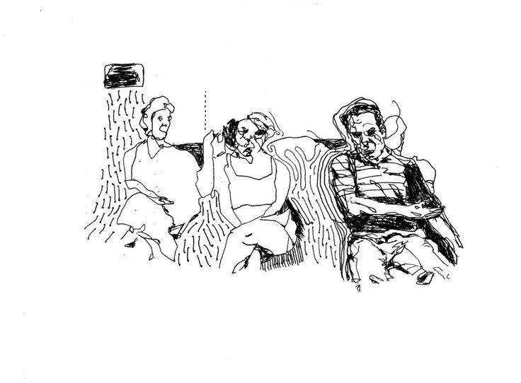 Jerusalem Syndrome, Sketch | Pen on paper | 2013 | Yonatan Licht