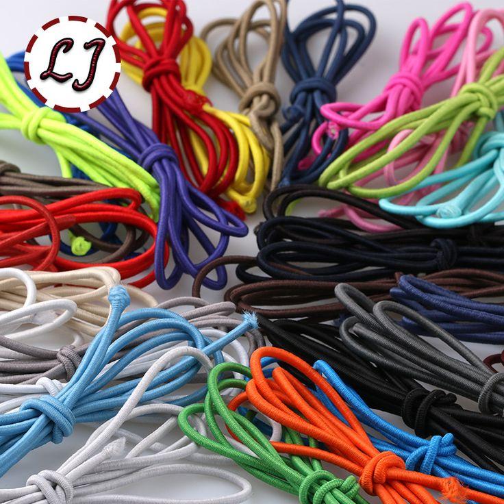 36色の選択2.5 ミリメートル弾性ストレッチ コード 6 ヤード/ロット高品質コード文字列スト ラップ ロープ家庭用衣服アクセサリー手作り diy