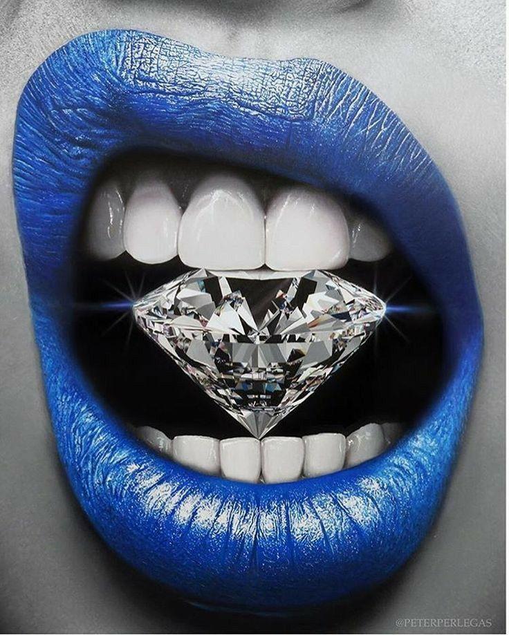 Diamond Teeth Wall Art Poster In 2020 Lipstick Art Lip Art Lip