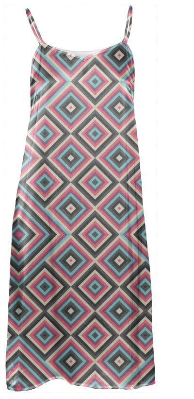 Kernoga Slip Dress by Fimbis  #fashion #pink #purple #grey #blue #pattern
