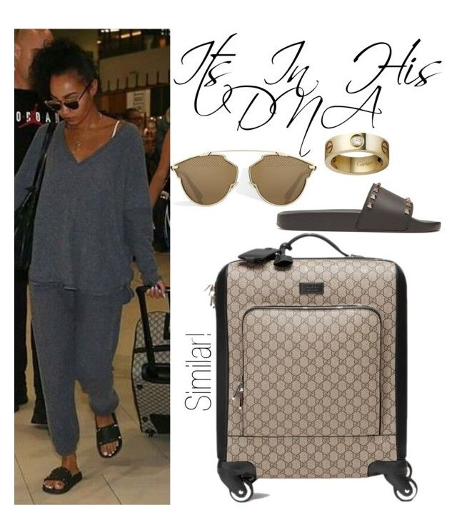 """""""Leigh Anne Pinnock Perth Airport 7/18/17"""" by katiehorror ❤ liked on Polyvore featuring Valentino, Gucci and Cartier"""