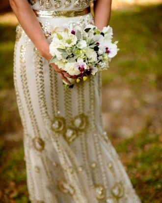 """See the """"Purple Accents"""" in our  gallery - bride's bouquet with whites and purple accents"""