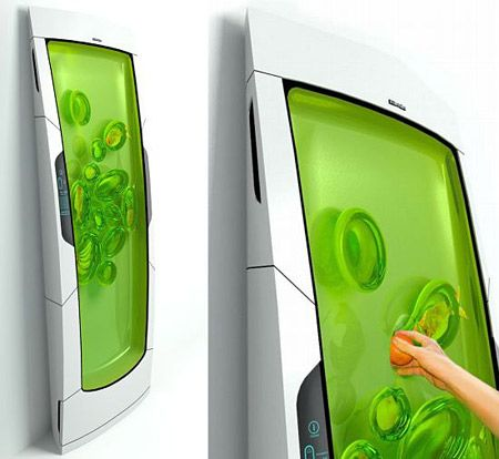 This is a fridge, you put your stuff in the gel and it keeps it cool, than you just reach in and take it out. the gel automatically reforms.
