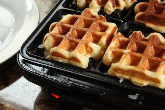 """LIEGE """"SUGAR"""" WAFFLES -- Buttery, hot, yeasty, soft, crunchy and sweet. The only problem I have with these waffles is that I will never enjoy any other waffle again. If you've ever tried an AUTHENTIC one, you'll totally understand."""